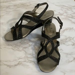 Bandolino Rhinestone Strappy Wedge Sandals